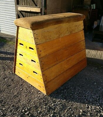 Vintage Old School Horse Vaulting Box/ Gym/ Gymnasium/ Prop/ Display
