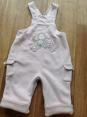 Gorgeous Baby Girls Fleece Dungarees Trousers Outfit 3-6 Months Minimode Combine