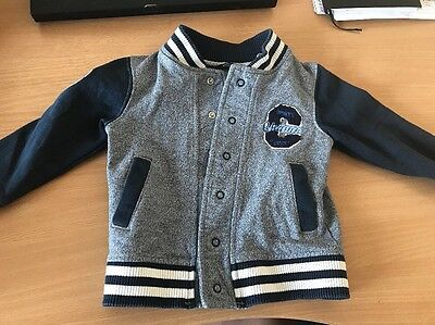 Baby Boys Basketball Style Jacket Age 9-12 Months