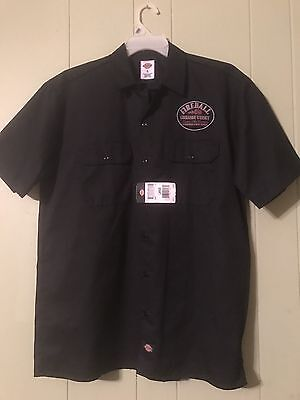 Fireball Cinnamon Whiskey Dickies  Label Bartender Shirt Size L NWT
