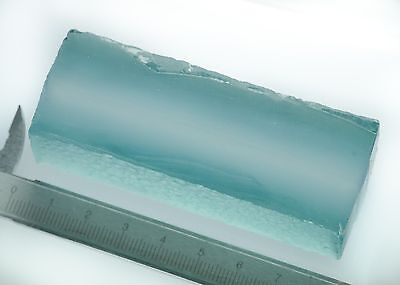 131gr Hydrothermal Aquamarine Quartz Lab Created Faceting Rough Stone