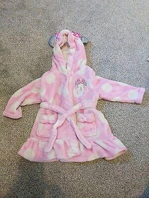 Minnie Mouse dressing gown 3-6 months with hood