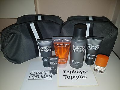 NEW Clinique For Men Gift Set Includes Travel Bag Genuine Seller Perfect Gift