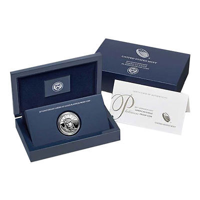 2017-W 1 oz Platinum American Eagle Proof Coin 20th Anniversary 1st Day of Issue