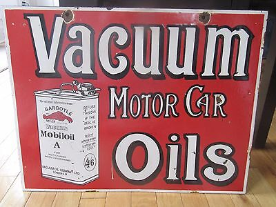 Old Vacuum Motor Oil Double Sided Porcelain Sign