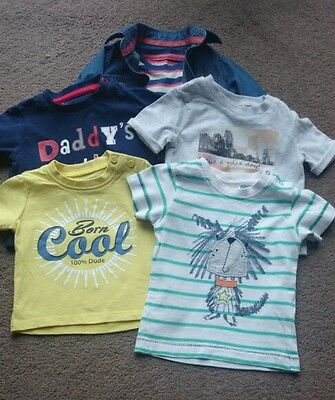 Baby boys t-shirt bundle age from 1 month to 3-6 months