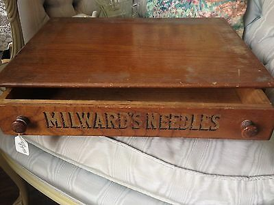 Antique wooden Milward's Needles/Cabinet/ADVERTISING /early1900s?