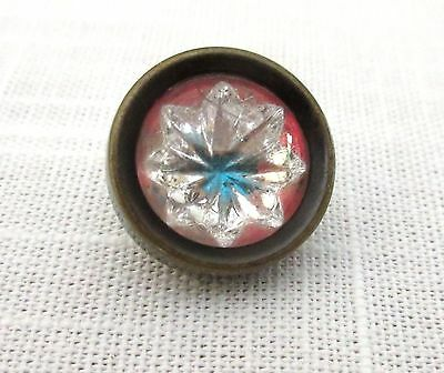 Antique Glass Button Radiant Glory Set in Metal  Waistcoat