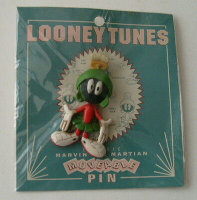 """Looney Tunes Marvin the Martian Moveable Pin, 1994, 2 1/4"""" high"""