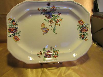 TAYLOR SMITH & TAYLOR China SPRING FLOWER Paramount Small Platter Ivory Floral