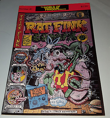 "Authentic '90 Ed ""BIG DADDY"" Roth #1 World Of Fandom RAT FINK COMIX R.K.Sloane *"