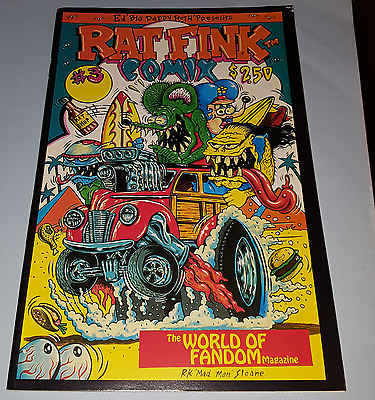 "Authentic '91 Ed ""BIG DADDY"" Roth #3 World Of Fandom RAT FINK COMIX R.K.Sloane *"