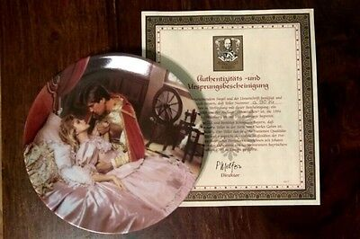 """Konigszelt Bayern's """"Sleeping Beauty"""" Collectible Plate with COA made in Germany"""