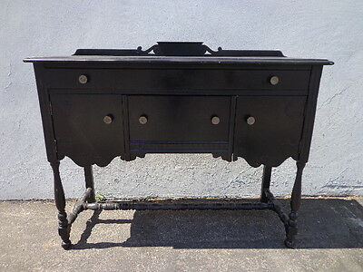 Vintage Buffet Sideboard Cabinet Server Hutch Tv Console Table Antique Rustic