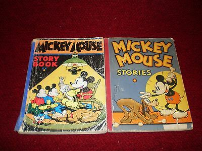 Vintage Mickey Mouse Books Story Book (1931) and Stories (1934)