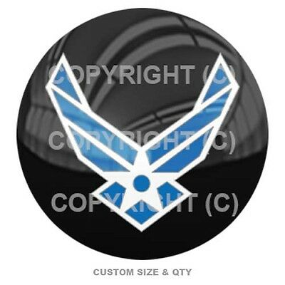 Premium Glossy Round 3D Epoxy Domed Decal Indoor & Outdoor Use - USAF Air Force