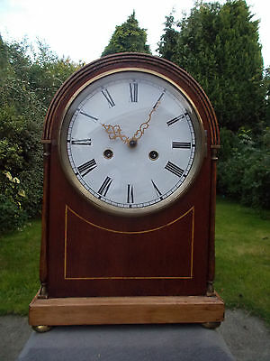 Good Looking Chiming Mantle Clock, Case & Movement. Spares/Repair...