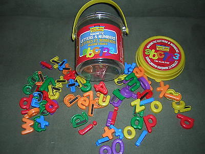 BITTY BUCKETS Lower Case MAGNETIC LETTERS & NUMBERS Educational Magnets Learn