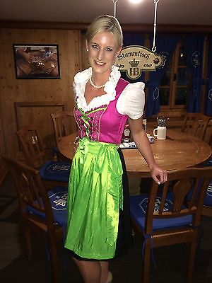 Colorful Imported Authentic German Dirndl Dress