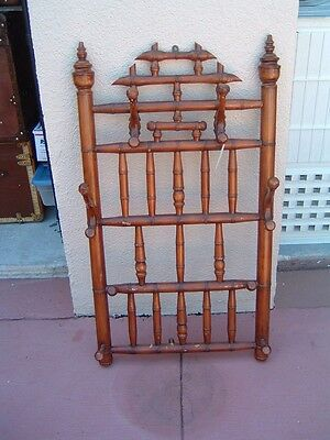 Antique French Bamboo Hat & Coat Wall Hook Large