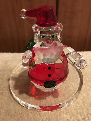 Party Lite Crystal Santa Candle Holder - New in Original Box