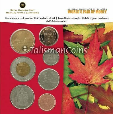 Canada 2011 ANA Chicago 7-Coin Mint Set Coin Show Special Edition MINTAGE 500