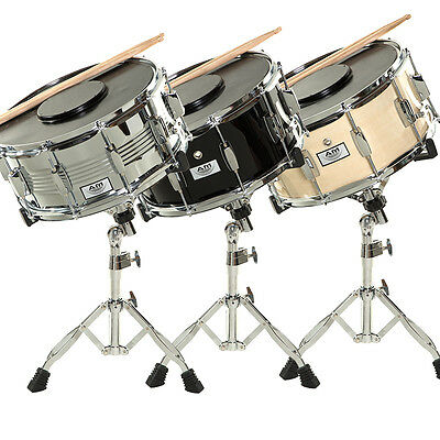 AM Student Snare Drum Set with Case, Sticks, Stand and Practice Pad Kit 3 COLORS