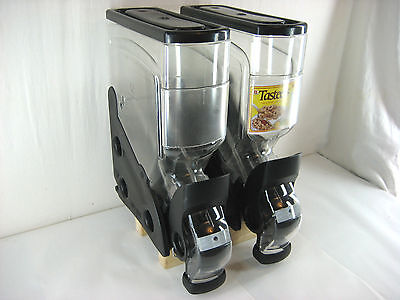 (2) Newleaf Designs Vita-Bin Gravity Bin Dispensers Coffee Beans Cereal 3 Gallon