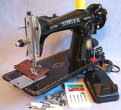 Singer REFURBISHED NEW WIRING 15-91 Sewing Machine Upholstery Leather Quilting