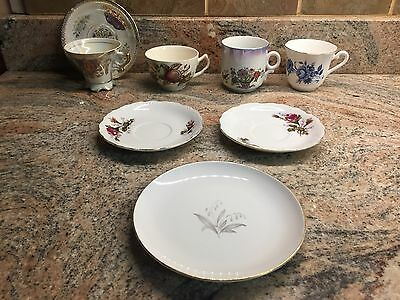 Lot of 4 Tea Cups Vintage Fine China By Kaysons ,Elizabethan and Czecho Solova