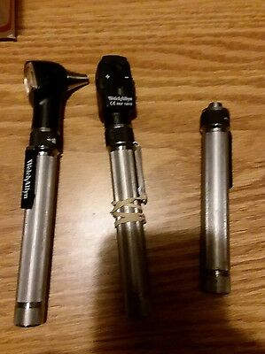 Welch Allyn Pocketscope Otoscope Ophthalmoscope Set with no case  check pic