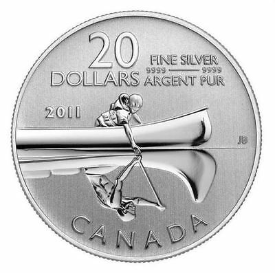 Canada 2011 Canoe $20 Commemorative Pure Silver Specimen Finish FULL OGP!
