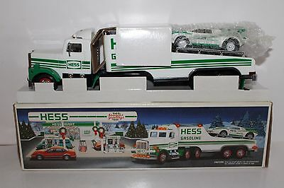 Near Mint 1991 Hess Toy Truck and Racer in Original Box with Inserts Lights