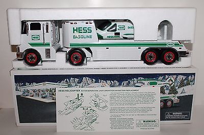 Near Mint 2006 Amerada Hess Toy Truck & Helicopter in Original Box with Inserts