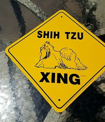 NEW Noble Beasts Graphics SHIH TZU XING Metal Sign 12x12 Dog