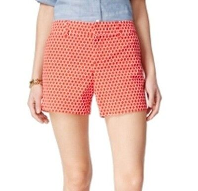 Tommy Hilfiger NEW Red Womens Size 16 Geometric-Print Casual Shorts $49 346