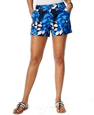 Tommy Hilfiger NEW Blue White Womens Size 16 Floral-Print Shorts $49 336