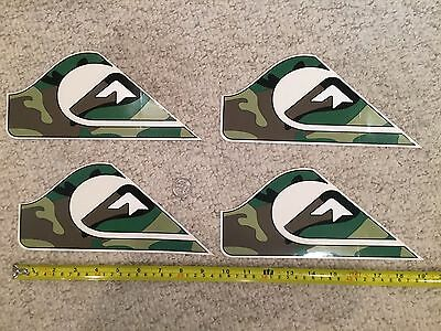 Quiksilver Authentic Team Sticker Collection Surf Skate Snow Lot of 4 green camo