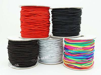 1mm 1.2mm 1.5mm 2mm 3mm Nylon Coated Round Elastic Cord Stretchable Mala String