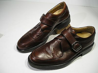 Today's Man Oxfords Modial Monk Strap Shoes Size US 11.5, EU 45 Made in Italy