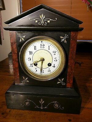 Extremely Rare Release Antique Japy Freres Marble Clock