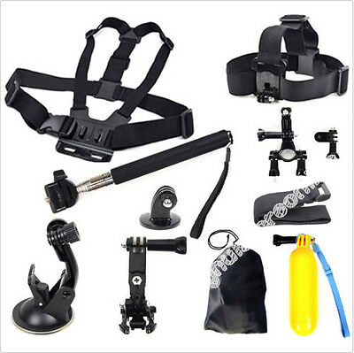 Head Chest Mount Floating Monopod Pole Accessories For GoPro Hero1 2 3 4 Camera