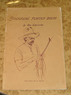 Stockman Plaited Belts By Ron Edwards Leather Leatherwork Guide Book 1984 3rd Ed