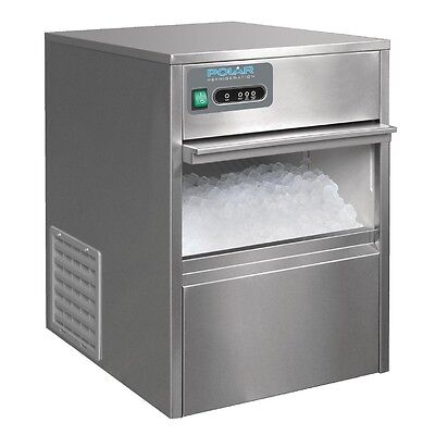 Polar  Ice Cube Maker Machine Under Counter Commercial Stainless Steel 20kg/24hr