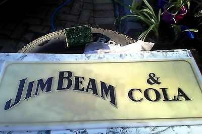 jim beam OLD perspex light front - make a great bar sign (type3)