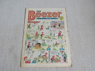 THE BEEZER COMIC, No 765, Sept 12th 1970- With the JellyMen Good/Fair condition