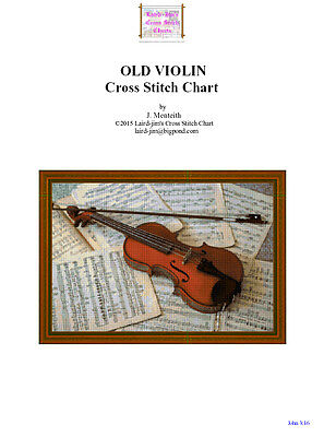 OLD VIOLIN - cross stitch chart