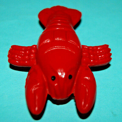 Cute 3 inch long Plastic Toy Celluloid Lobster *No cracks or splits*