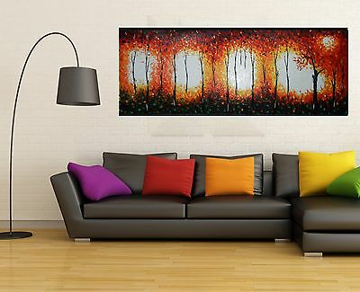 Large Bush Fire Dreaming  Art Painting texture oils landscape By Jane
