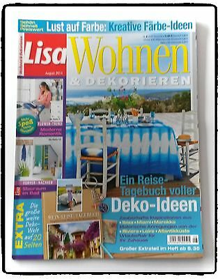 zeitschrift lisa wohnen und dekorieren august 2014 eur 1 00 picclick de. Black Bedroom Furniture Sets. Home Design Ideas